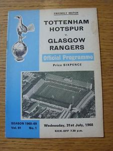 Tottenham v Glasgow Rangers 1968